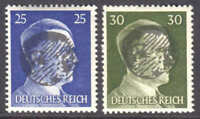 GERMANY 518-519 LOCAL SCHWÄRZUNGEN WEHLEN C OVERPRINT OG NH U/M F/VF