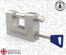 [PATENTED] UNBREAKABLE GARAGE CONTAINER PADLOCK 70MM *LIFE TIME WARRANTY*