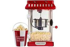 Andrew James Electric Retro Kettle Popcorn Popper Maker Machine Movie