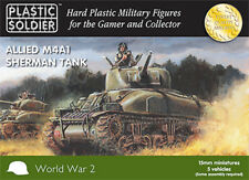 15mm Easy Assembly Sherman M4A1 75mm Tank #PSC WW2V15004 Unpainted Miniatures