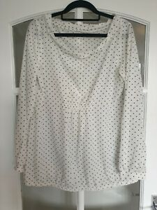 GAP Maternity Black Spotted Blouse (Womens, Size M)