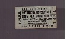 L.N.E.R  Platform Ticket - Nottingham (London Road) H.L. - Dated 1955
