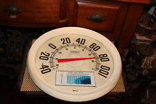 Vintage Springfield Temperature Gauge-Large-Glass Front-Garden Thermometer Decor