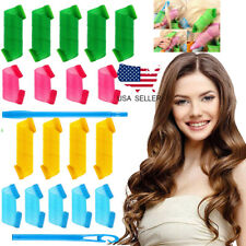 36 Pack Magic Short Hair Curlers DIY Curl Formers Leverage Rollers Spiral Hooks