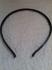 1 new piece black narrow acrylic head bands with samll teeth