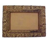 Antique Gold Gesso Baroque Wall Picture Frame 4 1/2 X 7 Wood Victorian Ornate