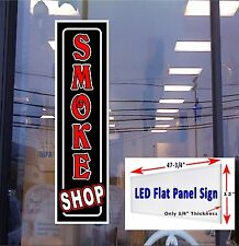 "LED Sign Smoke Shop 48""x12"" Window Sign neon banner alternative New Gen, LEDs"