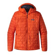 Patagonia Men's Nano Puff® Full Zip Hoody Jacket - Painbrush Red - PBH - L