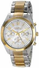 Caravel New York Ladies Melissa Two-Tone Chronograph Watch - New