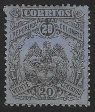 Colombia 1898 COAT OF ARMS  20c  (FBX)