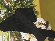 "5 yards 3/4"" width black elastic for sewing lingerie headbands or fashion"