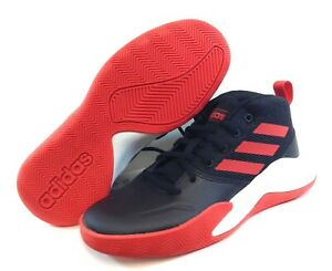 Youth Kids Boys Adidas Own The Game EF0309 WIDE Black Basketball Sneakers Shoes