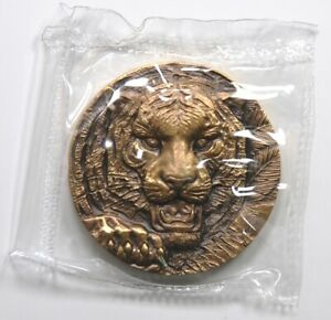 China Shanghai Mint 2015 Zodiac Series Tiger Zodiac Heads Brass Medal 60mm COA
