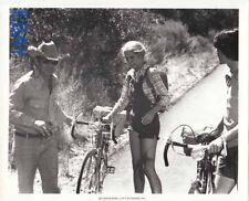 Director Elliot Silverstein Melody Thomas Bob Woodlock on bicycles VINTAGE Photo