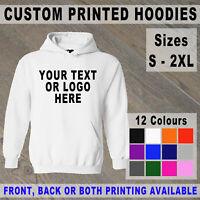 Custom Printed Hoodie Unisex Personalised Stag Hen Event Hoody Logo Workwear
