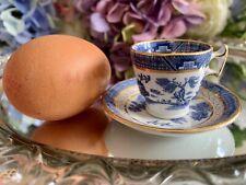Booths Real Old Willow TRADESMANS SAMPLE Miniature Teacup & Saucer RARE!