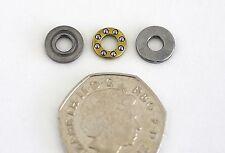 Meccano Miniature Compact Ball Thrust Bearing Axial Thrust Race 4mm Shaft Bore.