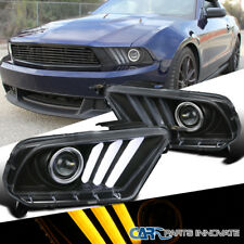 10-14 Mustang Sequential LED Signal Black Projector Headlights Clear Pair