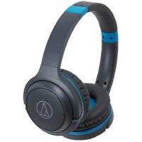 Audio-Technica Bluetooth Wireless Headphone ATH-S200BT GBL Gray Blue New in Box