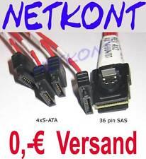 Multilane mini SAS Kabel SFF8087 SATA 0,6m  4x SATA NEU