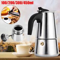 4 Size Stainless Steel Stovetop Espresso Coffee Maker Percolator Pot Moka Latte