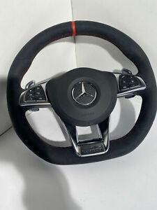 Mercedes Leder Lenkrad AMG A2054608600 C-Klasse C63 Alcantara Benz