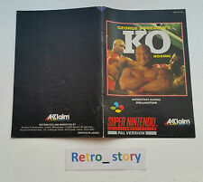 Super Nintendo SNES George Foreman's KO Boxing Notice / Instruction Manual
