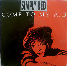 """7"""" SIMPLY RED: come To My Aid/French press! \"""