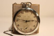"Antique Art Deco Rare Swiss Pocket Mechanical Watch ""Hercules""/Nice Relief Dial"