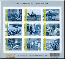 2012 foglietto 150° Anniversario delle Poste Italiane CODICE A BARRE 1486