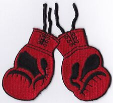 BOXING GLOVES - RED - IRON-ON PATCH