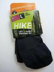 ICEBREAKER Merino Wool Hiking Medium Crew Socks USA Women's M 7.5 - 9 NWT