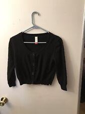 No Boundaries Cardigan Sweater Size M (7-9) Black Nice
