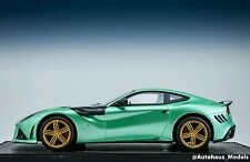 1/18 Mansory Ferrari F12 Stallone in Mint Green Limited 15 pc Leather Base