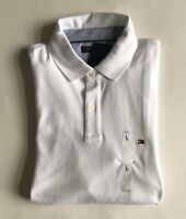$50 NWT Mens Tommy Hilfiger Custom Fit Short Sleeve Knit Polo Shirt White L