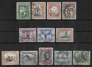 SIERRA LEONE 1933 Used Set of 12 Stamps SG #168-179 CV £300+
