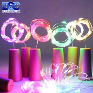 LED Wine Bottle Lights  20LEDs Cork Shape Copper Wire Colorful Mini String Light