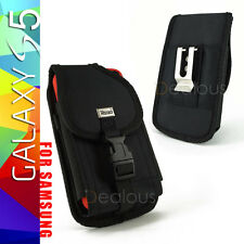 Samsung Galaxy S4 S5 Rugged Nylon Holster Pouch Case w/Clip - FIT OTTERBOX CASE