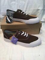 Genuine Mens Huf Cromer Wool Drab Brown Canvas Skate Shoes UK Size 8 BNIB