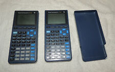 Two TI-81 Handheld Graphing Calculators w/Cover Texas Instruments Tested Working