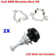 H7 LED Headlight Bulbs Adapters Holders Retainers For Audi BMW Mercedes-Benz VW