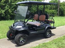 BLACK 4 PASSENGER ADVANCED EV LIFTED LSV STREET LEGAL GOLF CART FAST LUX