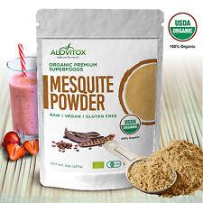 Mesquite Powder Natural Sweetener Fiber Algarrobo Organic by Alovitox 8 oz