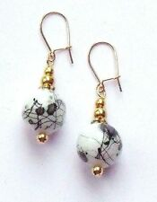 Rose Gold Plated Glass Not Applicable Round Costume Earrings