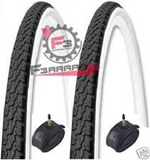 666) 2 Tires 26 x 1 3/8 37-590mm White Black Rooms Air Bike Bicycle