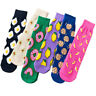 Women Mens Cotton Socks Fruits Cookie Donuts Food Skateboard Novelty Funny Socks