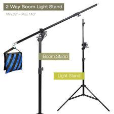 """60"""" Arm Bar Photo Studio 2 Way Adjustable Boom Stand Sandbag Combo Photography"""