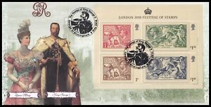 2010 GB London Festival of Stamps Miniature Sheet Bradbury BFDC79 FDC George St