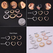 Heart Cartilage Earring Tragus Nose Ring Eyebrow Hoop Piercing Conch Ring Stud