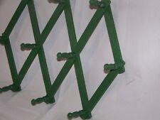 Vintage Green Expanding Wood Accordion Wall 10 Peg Rack ~ Mugs ~ Jewelry